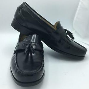 NIB Chaps Mens Affiliate Black Leather Dress Shoe